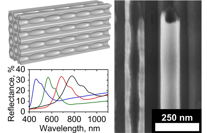 Nanotubes of anodic titanium oxide with a new microstructure